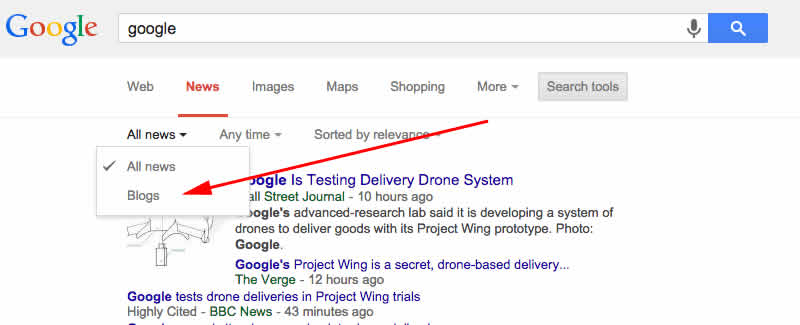 Google News Replaces Blog Search