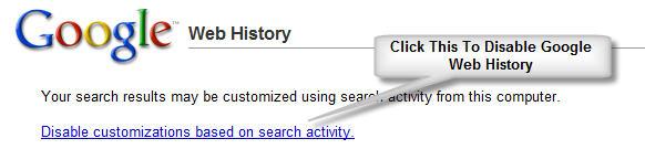 Google Web History Feature