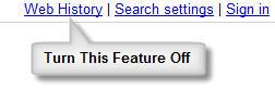 Google™ Web History