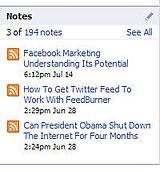 Face Book Notes