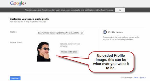 Profile Image Google+