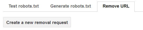 Google Remove URL