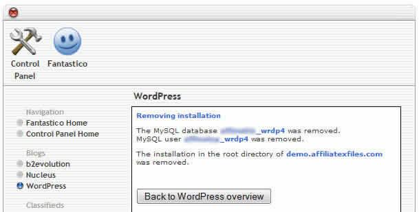 wordpress removed